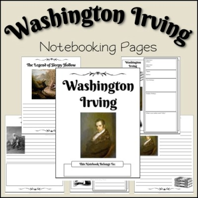 Freebie: Washington Irving Notebooking Pages