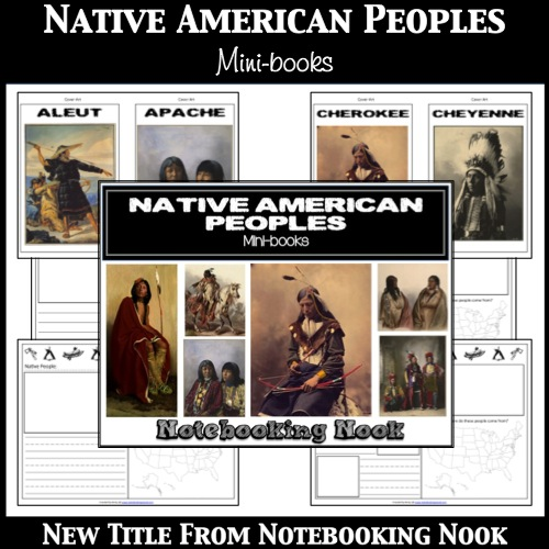 New Title: Native American Peoples Mini-books from Notebooking Nook