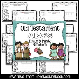 Old Testament ABC's Trace & Paste Notebook