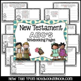 New Testament ABC's Notebooking Pages