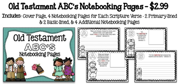 Old Testament ABC's Notebooking Pages