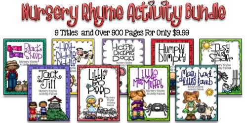 Nursery Rhyme Activity Bundle - 9 Titles and Over 900 Pages for Only $9.99!
