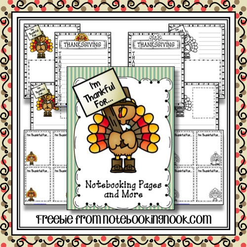 I'm Thankful For... Notebooking Pages and More Freebie