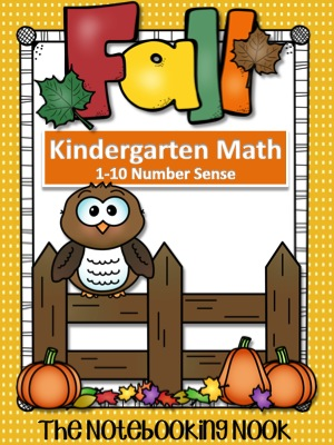 Fall Kindergarten Math 1-10 Number Sense