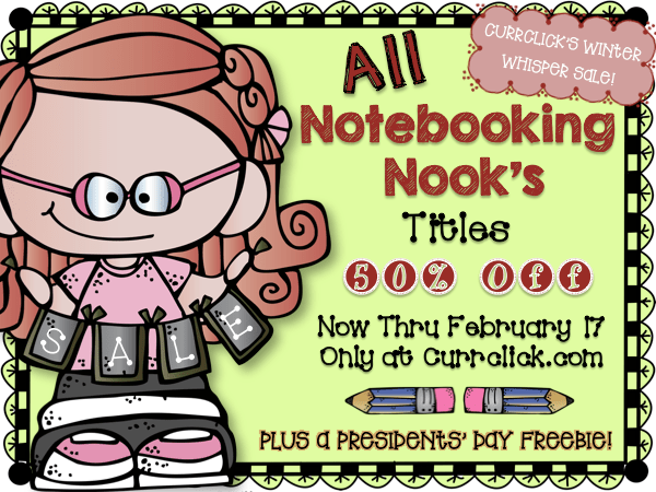50% Off All Notebooking Nook's Title New Thru February 17 at Currclick
