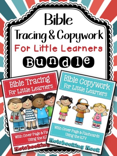 Bible Tracing & Copywork For Little Learners Bundle