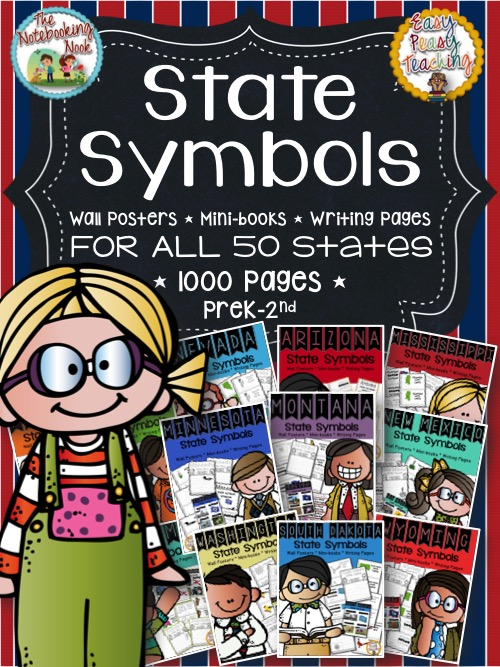 State Symbols For All 50 States Bundle Notebooking Nook