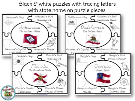State Puzzles Freebie Samples