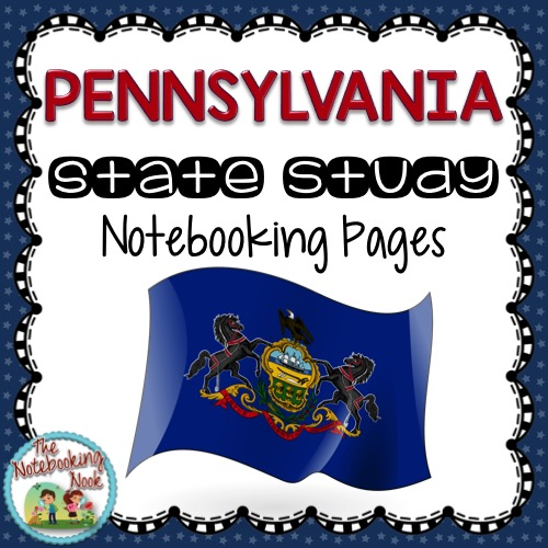 Pennsylvania State Study Notebooking Pages from The Notebooking Nook