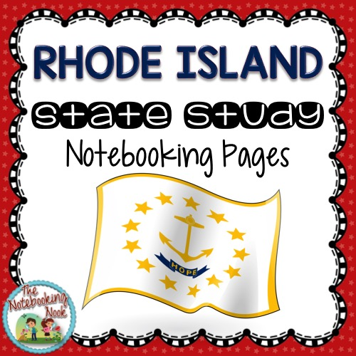 Rhode Island State Study Notebooking Pages from The Notebooking Nook