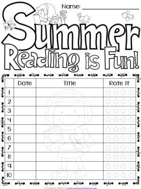 Free Summer Reading Logs and More!