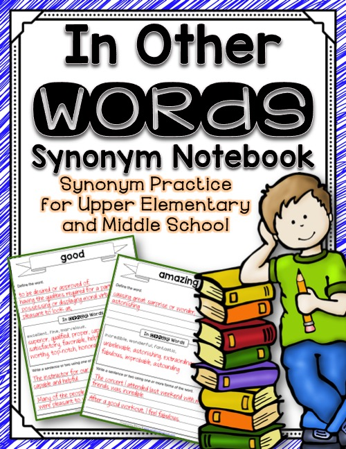 In Other Words Synonym Notebook