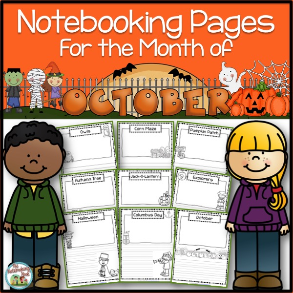 Themed Notebooking Pages for the Month of October