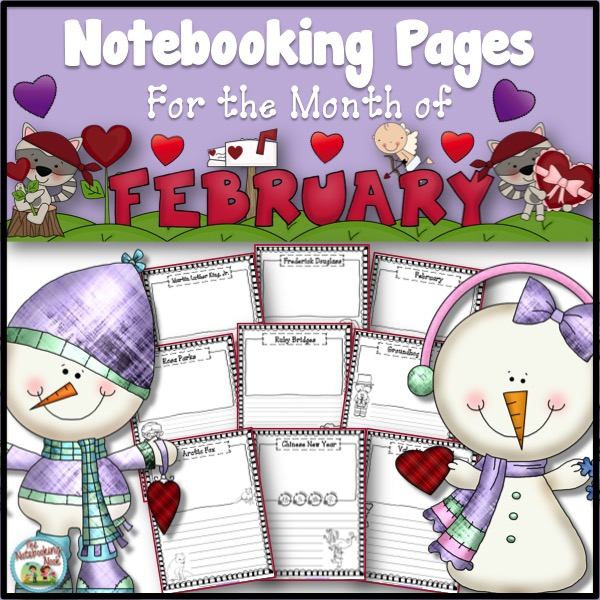 February Notebooking Pages