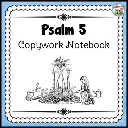 Psalm 5 Copywork Notebook