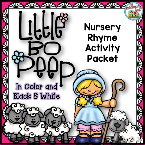 Little Bo Peep Nursery Rhyme Activity Packet