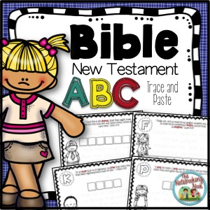 New Testament ABC's Trace and Paste Notebook
