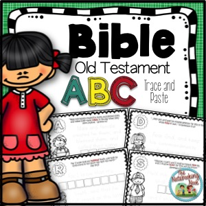 Old Testament ABC's Trace and Paste Notebook