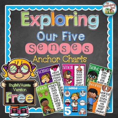 Exploring Our Five Senses Anchor Charts - English/Aussie Version