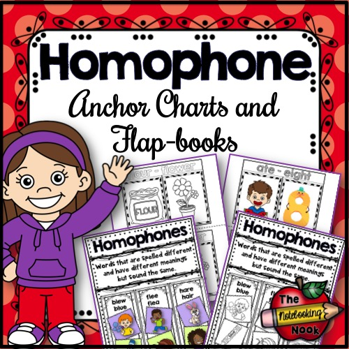 Homophone Anchor Charts and Flap-books