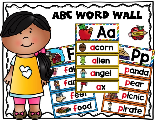 ABC Word Wall Samples