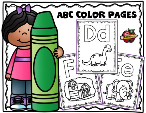 ABC Coloring Pages Samples