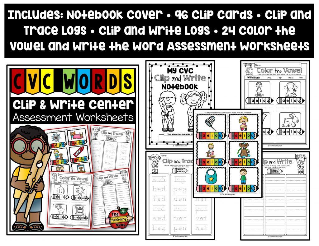Cvc Words Mega Bundle Notebooking Nook