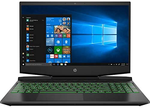HP Pavilion Gaming 15-Inch Micro-Edge Laptop, Intel Core i5-9300H Processor, NVIDIA GeForce GTX 1650 (4 GB), 8 GB SDRAM, 256 GB SSD, Windows 10 Home (Shadow Black/Acid Green) 1