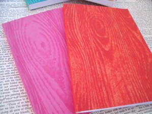 woodgrain notebook