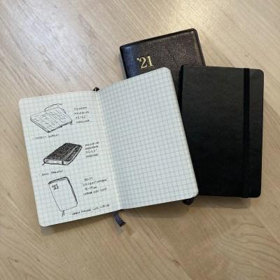 Nolty Gold Diary, Moleskine pocket Sketchbook Squared Moleskine