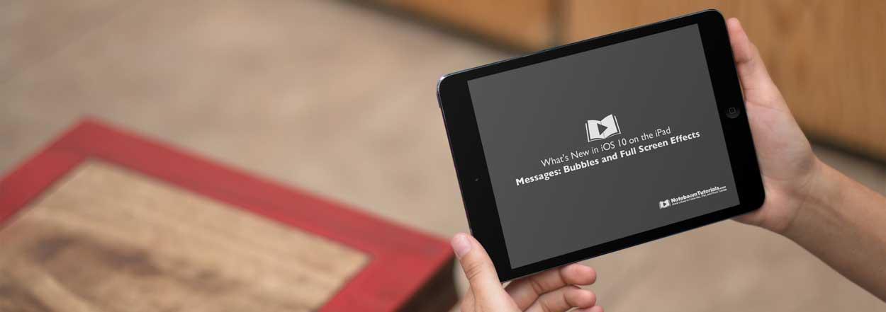 Tutor for iOS 10 on the iPad