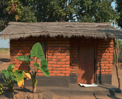 malawi house with porch
