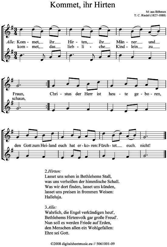 Kommet ihr Hirten 2x AltSaxophon Weihnachtslied sehr leicht