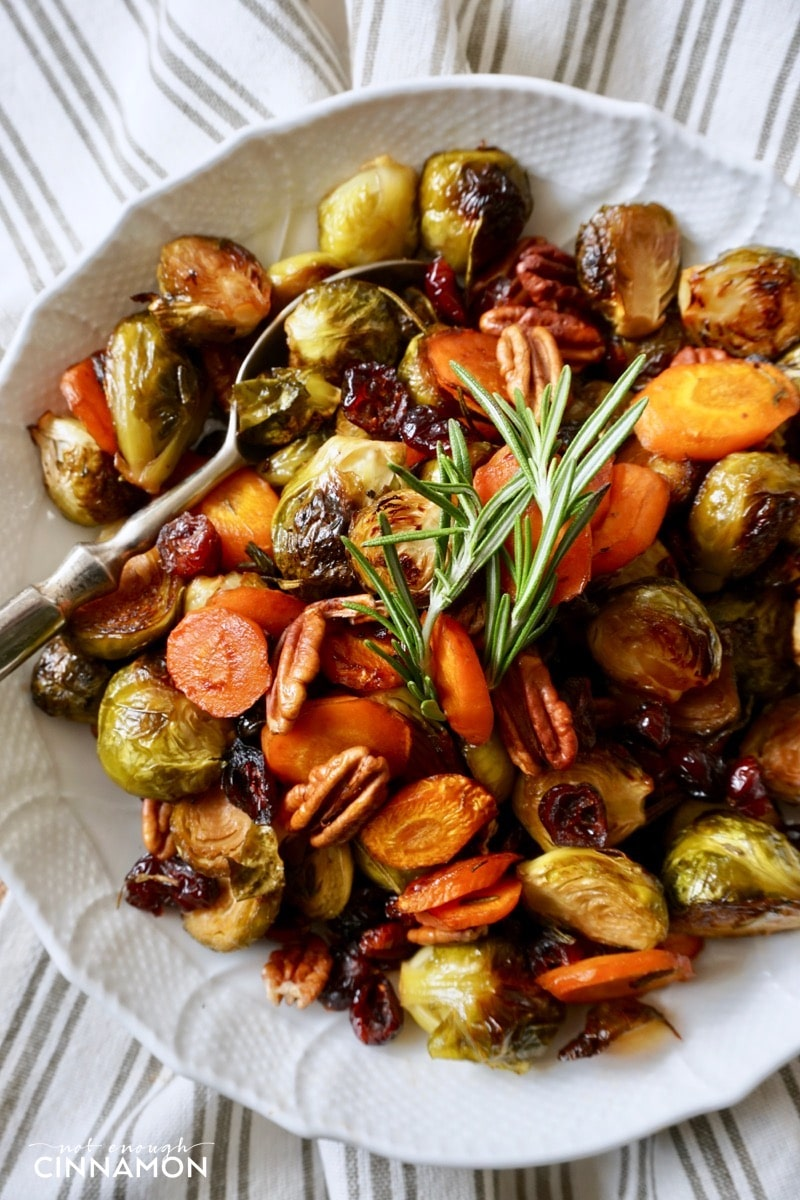 Easy Holiday Roasted Vegetables with Pecans and