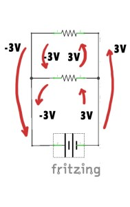 Voltage in parallel circuit