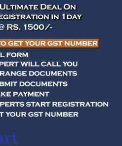 Best Way To GST registration The Ultimate Deal rs 1500 On GST Registration in 1 day