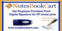 Dsc Employee Provident Fund digital signature for PF lowest price