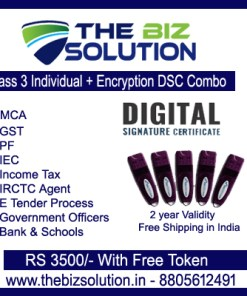 Paperless Class 3 Individual Encryption Digital Signature Lowest Price Free delivery