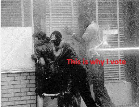 Intimidation via high pressured fire hose: Violent Techniques used on Peaceful Protesters in the 1960's. Not very long ago, actions such as these were sanctioned by the United States Government