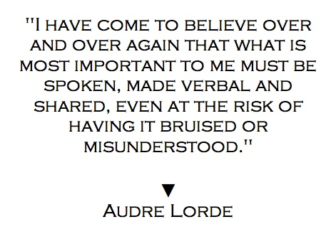 Audre Lorde Quote on Speaking
