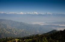 Himalayapanorama vom Shiva Tempel, Dulikhel