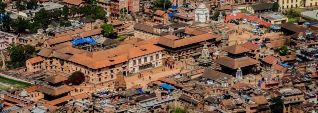 Bhaktapur Durbar Square von oben