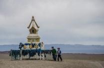 Rituelle dreifache Umschreitung der Stupa