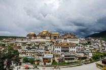 Tibetanische Klosteranlage