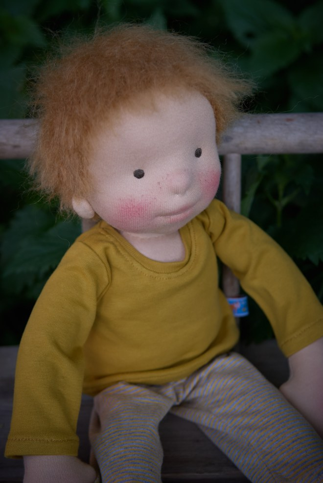 "Viggo, a 17""/ 45cm OOAK cloth doll by Atelier Björkåsa"