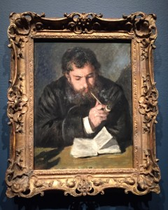 Claude Monet, painted by Renoir (1872)