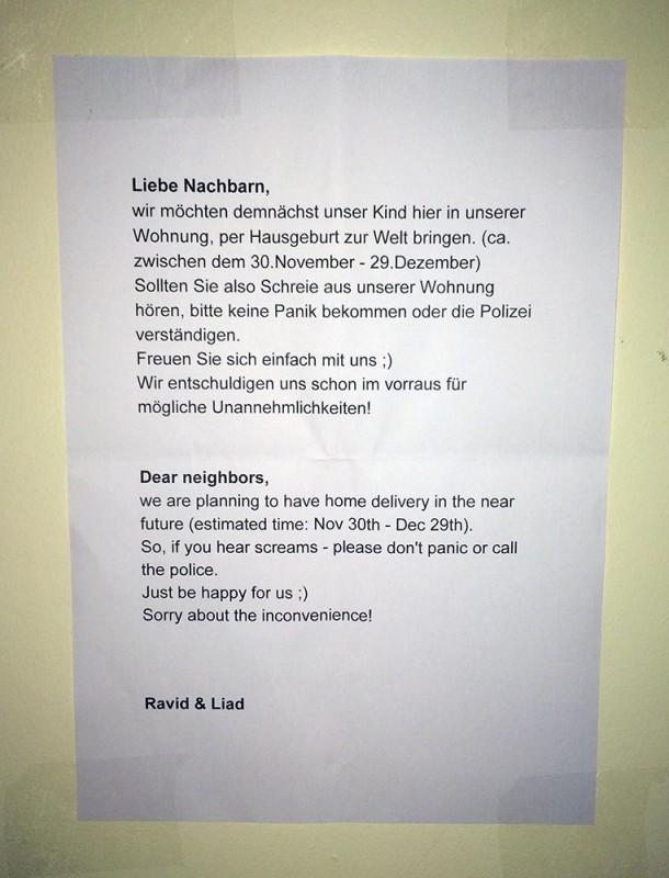 Hausgeburt Freuen Sie sich einfach mit uns  NOTES OF BERLIN