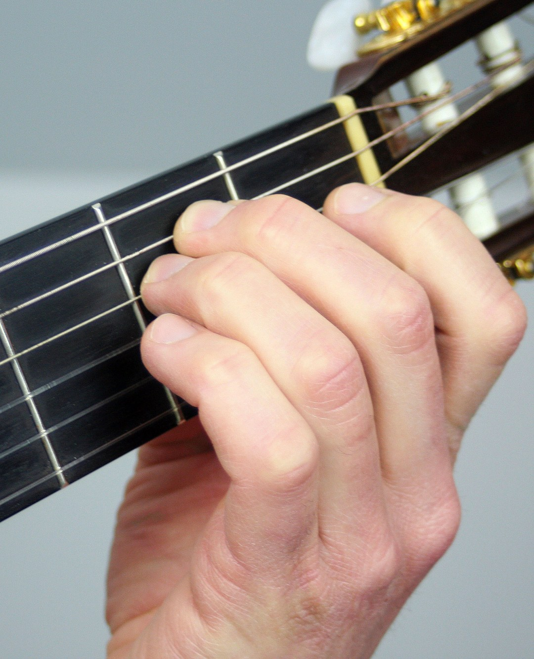 Your First Chord E Minor Notes On A Guitar