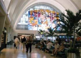 New Orleans Airport lobby