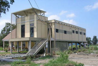 A Brad Pitt eco-home in New Orleans lower ninth ward.